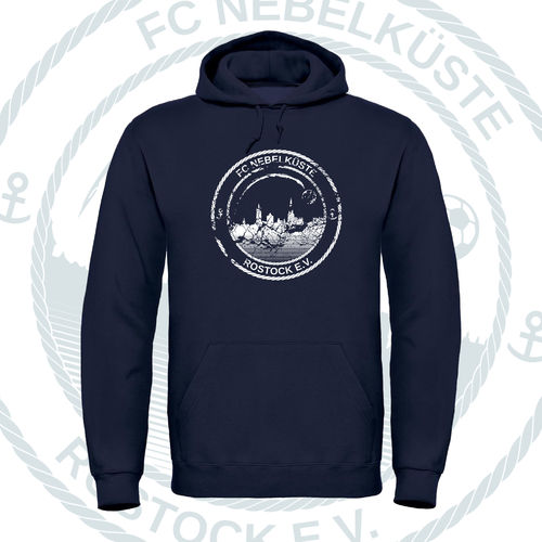 "HOODY ""NEBELKÜSTE CRUSH"" NAVY"